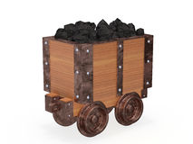Mine trolley full of coal Stock Photography