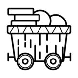 Mine trolley icon vector royalty free illustration