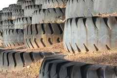 Mine truck wheel Royalty Free Stock Images