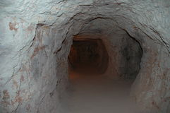 Mine tunnel. Umoona Opal Mine, Coober Pedy, South Australia Royalty Free Stock Images