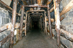 Mine Tunnel. Gold Mine Tunnel restored for tourists royalty free stock photos