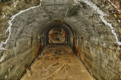 Mine tunnel Stock Photography