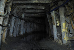 Mine tunnel royalty free stock photo