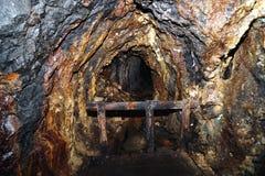 Mine tunnel in Banska Stiavnica Stock Photo