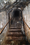 Mine tunnel in Banska Stiavnica Stock Photography