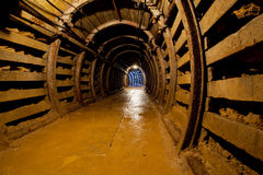 Mine tunnel with path Royalty Free Stock Photo
