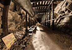 Mine tunnel Royalty Free Stock Images