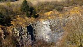 Mine used for mining stone, surface quarry