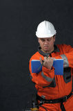 Mine worker with file Stock Images