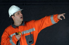 Mine worker searching Stock Image