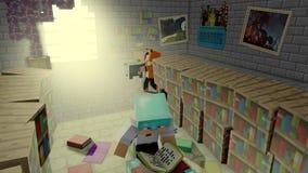 Minecraft art. Beutyful minecraft art, search secrets stock illustration