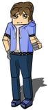 Minecraft boy. Minecraft game boy drawn digital stock illustration