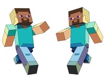 Minecraft character. The minecraft online game with the main character named Steve vector illustration