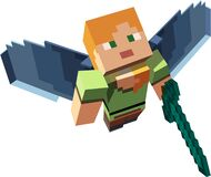 Free Minecraft Character With Wings And Sword Royalty Free Stock Photos - 182481998