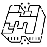 Minecraft icon vector. Illustration photo royalty free illustration