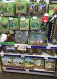 Minecraft leksaker i en toyshop Arkivfoton