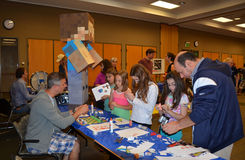 Minecraft paper characters Stock Photography