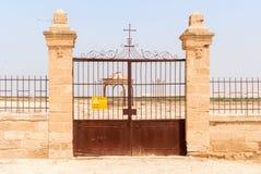 Minefield in Jordan valley, Israel. Royalty Free Stock Images