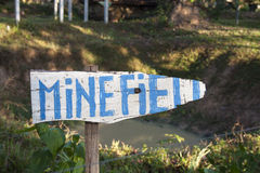 Minefield sign Royalty Free Stock Photography