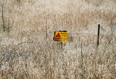 Minefields in the Golan Heights Royalty Free Stock Images