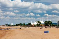 Minehead海滩萨默塞特英国英国 库存图片