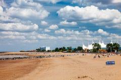Minehead海滩萨默塞特英国英国 免版税库存图片