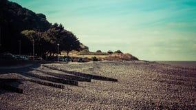Minehead пляжа гонта Стоковые Фото