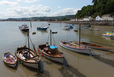 Minehead harbour Somerset England uk in summer with blue sky on a beautiful day Royalty Free Stock Photos