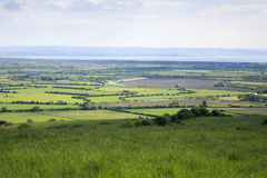 Minehead and Somerset Levels. View looking towards Minehead, somerset from the Mendip hills Royalty Free Stock Images