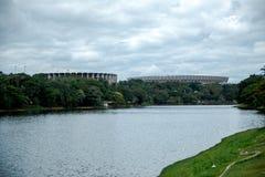 Mineirao é um estádio de futebol em Brasil foto de stock royalty free
