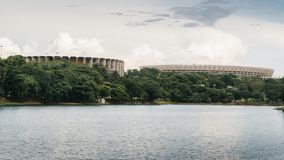 Mineiraostadion in Belo Horizonte, Brazilië Stock Afbeeldingen