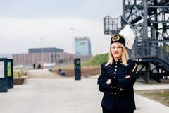 Mineiro da mulher de funcionamento no uniforme da parada da gala Imagem de Stock Royalty Free
