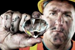 Mineiro do diamante Fotos de Stock Royalty Free