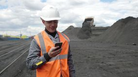 Mineiro do trabalhador de mineração da mina de carvão vídeos de arquivo