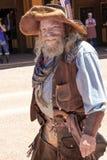 Mineiro ocidental selvagem idoso Character do vaqueiro imagens de stock
