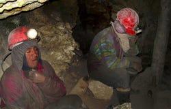 Mineiros em Potosi, Bolívia Foto de Stock Royalty Free