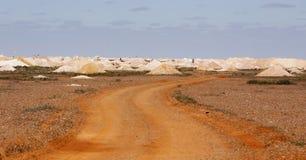 Minen dumpar coober pedy Australien Arkivbilder