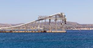 Minenindustriehafenanlage Stockfotos