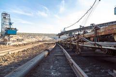 Minenmaschiene im Bergwerk Lizenzfreies Stockfoto