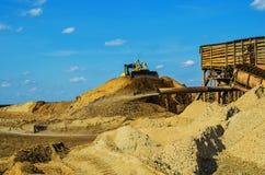 Minería aurífera por el método hidráulico Imagen de archivo libre de regalías