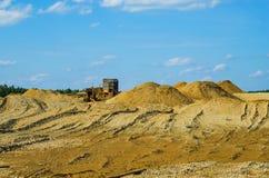 Minería aurífera por el método hidráulico Fotografía de archivo
