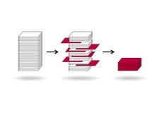 Minería de datos ilustración del vector
