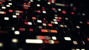 Minería de datos, fondo móvil resumido de los cuadrados stock de ilustración