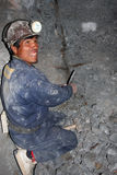 Miner. A miner in silvermines of Potosi. Potosí is a city in Bolivia. It is claimed to be the highest city in the world at a nominal 4,090 m. It lies beneath Royalty Free Stock Images