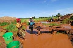 Miner in Africa Stock Image