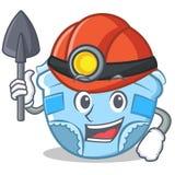 Miner baby diaper character cartoon Royalty Free Stock Image