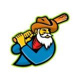 Miner Baseball Player Mascot Stock Image