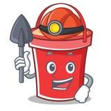 Miner bucket character cartoon style Stock Photo