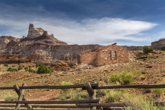 Miner Cabin at Abandoned Radium Mine in Utah Stock Photography