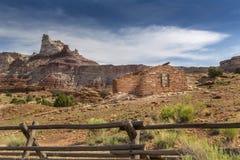 Miner Cabin at Abandoned Radium Mine in Utah Stock Photography